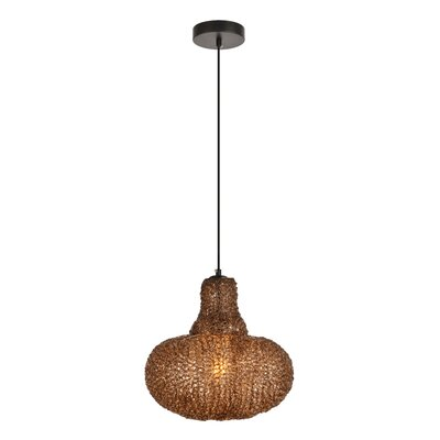 Teegan 1-Light Mini Pendant Color: Black/Coffee