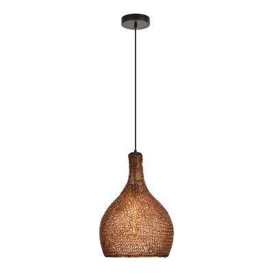 Teegan 1-Light Inverted Pendant Color: Black/Coffee
