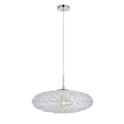 Bainum 1-Light Mini Pendant Finish: Chrome/Clear