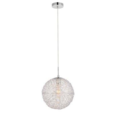 Bainum 1-Light Globe Pendant Finish: Chrome/Clear, Size: 77 H x 15.7 W x 15.7 D
