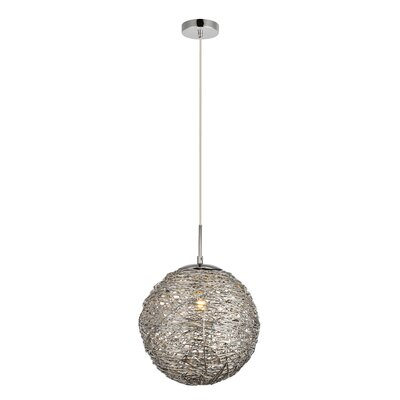 Bainum 1-Light Globe Pendant Finish: Chrome, Size: 72 H x 11.4 W x 11.4 D