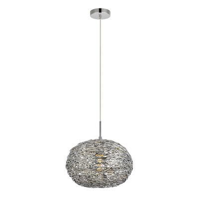 Bainum 1-Light Mini Pendant Finish: Chrome