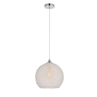 Bainum 1-Light Globe Pendant Finish: Chrome/Clear