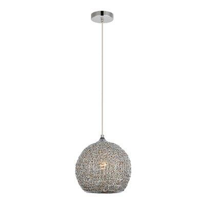 Bainum 1-Light Globe Pendant Finish: Chrome