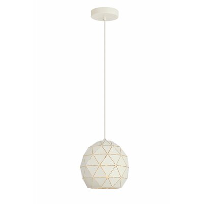 Mullican 1-Light Globe Pendant Finish: White, Size: 68 H x 7.9 W x 7.9 D