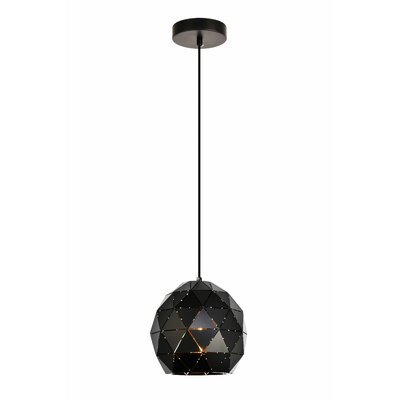 Mullican 1-Light Globe Pendant Finish: Black, Size: 72 H x 11.8 W x 11.8 D