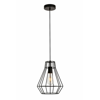 Mullikin 1-Light Mini Pendant Finish: Black