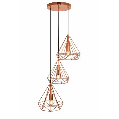 Mullikin 3-Light Cluster Pendant Finish: Copper