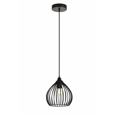Mullin 1-Light Mini Pendant Finish: Black