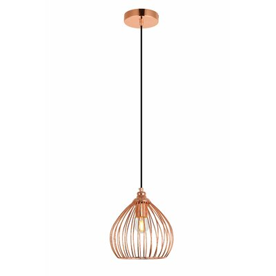 Mullin 1-Light Mini Pendant Finish: Copper