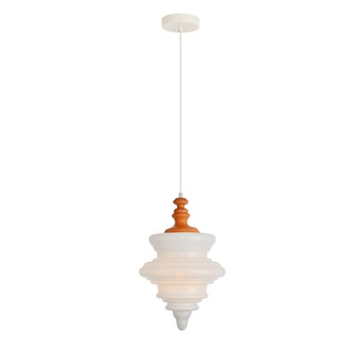 Templin 1-Light Schoolhouse Pendant Color: Grain/White