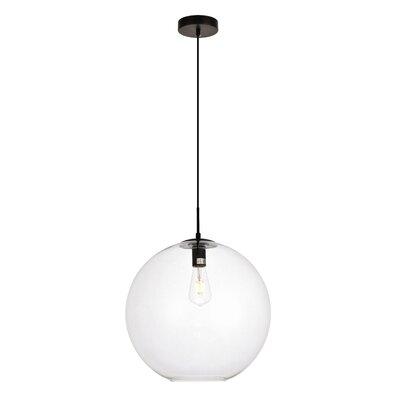 Mullinix 1-Light Globe Pendant Size: 76 H x 15.7 W x 15.7 D