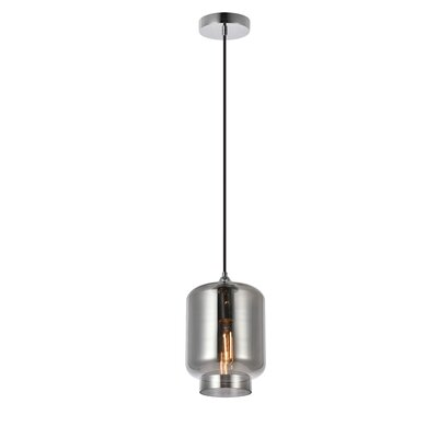 Collins 1-Light Mini Pendant Shade Color: Smoke