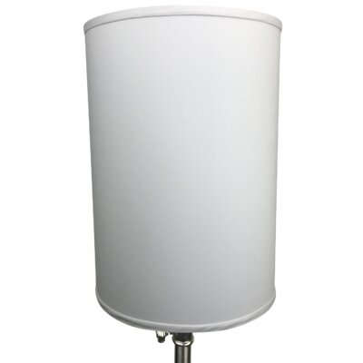 12 Linen Drum Lamp Shade Color: Silver
