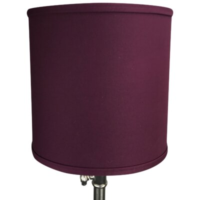 10 Linen Drum Lamp Shade Color: Burgundy