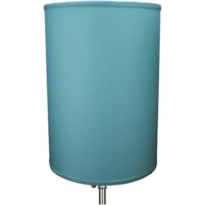12 Linen Drum Lamp Shade Color: Robin Egg