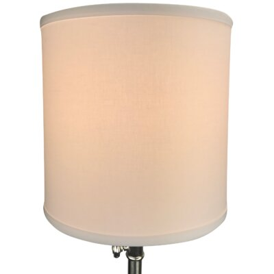 10.5 Linen Drum Lamp Shade Color: White