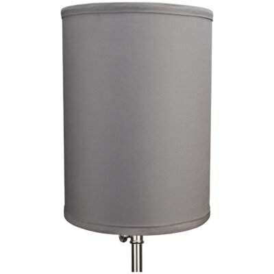8 Linen Drum Lamp Shade Color: Gray