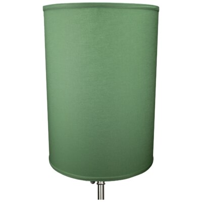 12 Linen Drum Lamp Shade Color: Celadon