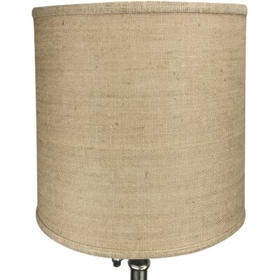 13 Burlap Drum Lamp Shade Color: Natural