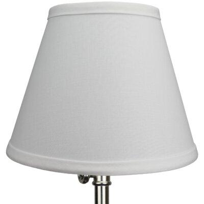 9 Linen Empire Lamp Shade Color: White