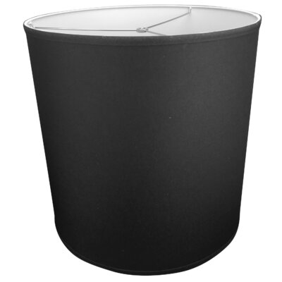 18 Linen Drum Lamp Shade Color: Black