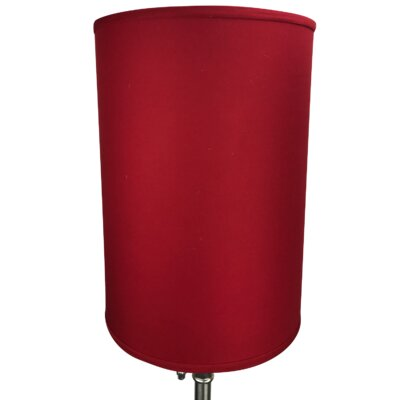 12 Linen Drum Lamp Shade Color: Rich Red