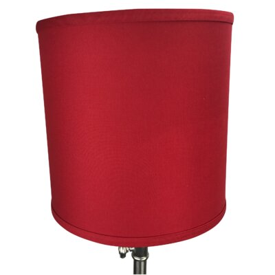 10 Linen Drum Lamp Shade Color: Rich Red