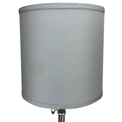 10 Linen Drum Lamp Shade Color: Iron
