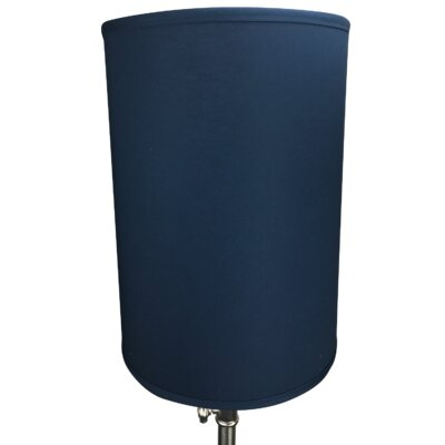 12 Linen Drum Lamp Shade Color: Navy