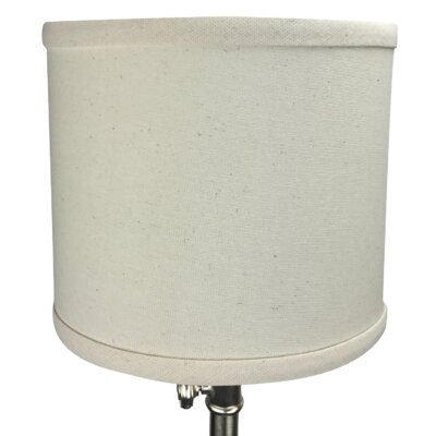 8 Linen Drum Lamp Shade Color: Beige