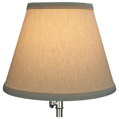 9 Linen Empire Lamp Shade Color: Beige