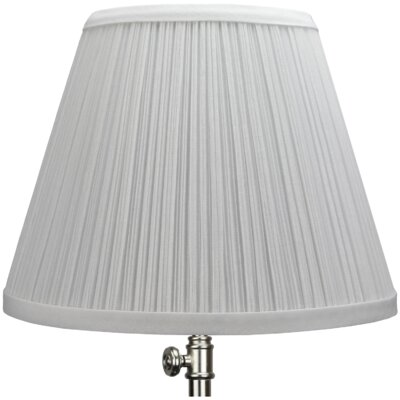 9 Linen Empire Lamp Shade Color: White