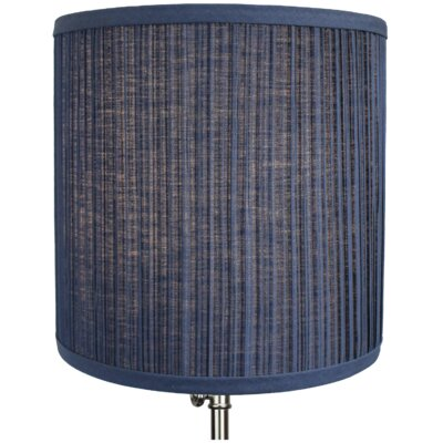 10.5 Linen Drum Lamp Shade Color: Navy