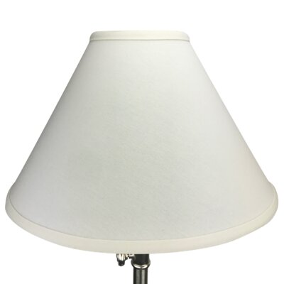 15 Linen Empire Lamp Shade Color: White