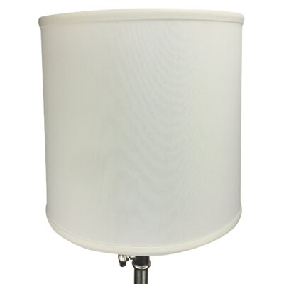 13 Linen Drum Lamp Shade Color: Off White