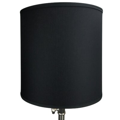 14 Linen Drum Lamp Shade Color: Black