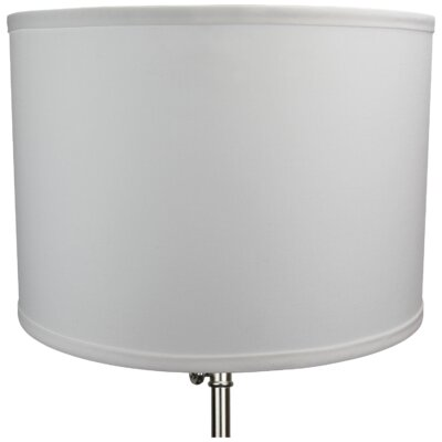14 Linen Drum Lamp Shade Color: White