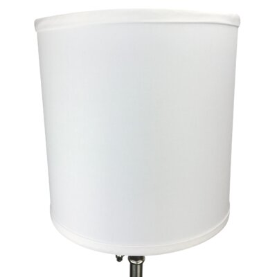 10 Linen Drum Lamp Shade Color: White