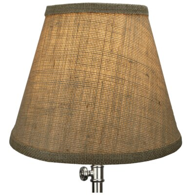 9 Burlap Empire Lamp Shade Color: Natural