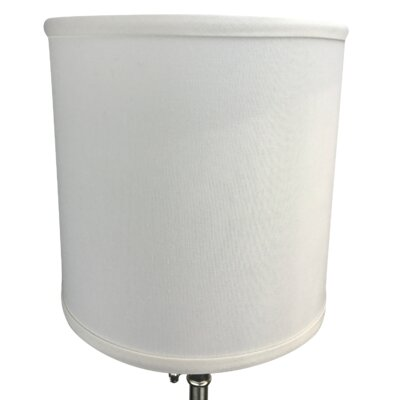 10 Linen Drum Lamp Shade Color: Off White