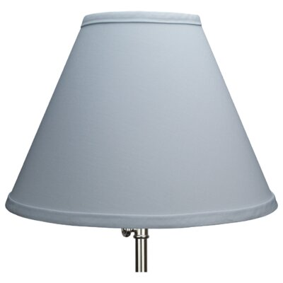 12 Linen Empire Lamp Shade Color: Blue