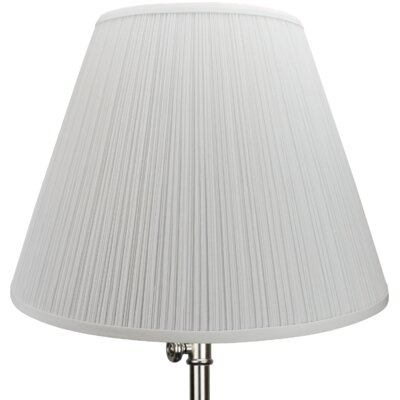 18 Empire Lamp Shade Color: White