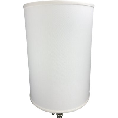 12 Linen Drum Lamp Shade Color: Off White
