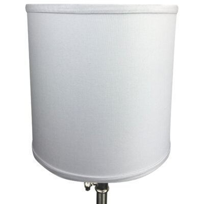10 Linen Drum Lamp Shade Color: Silver