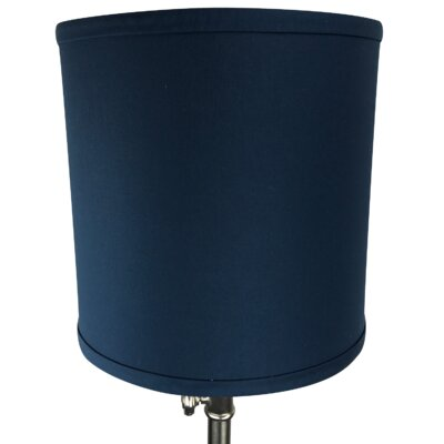 10 Linen Drum Lamp Shade Color: Navy Blue