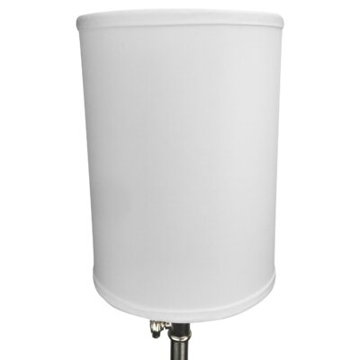 8 Linen Drum Lamp Shade Color: White