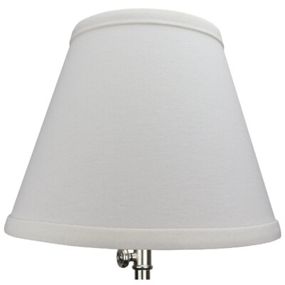 9 Linen Empire Lamp Shade Color: Off White