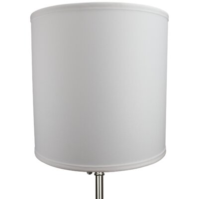 12 Linen Drum Lamp Shade Color: White