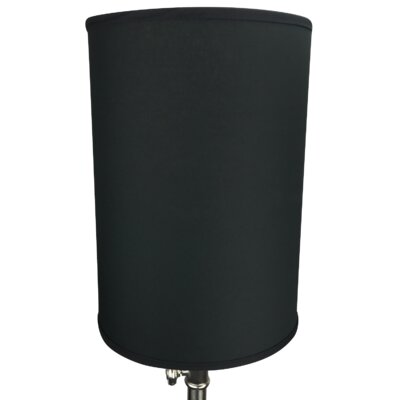 12 Linen Drum Lamp Shade Color: Black